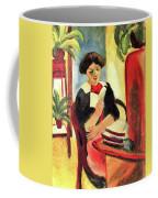 Elisabeth At Her Desk 2 By August Macke Coffee Mug