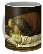 Elisha Raising The Son Of The Shunamite Coffee Mug by Frederic Leighton