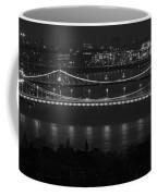 Elizabeth And Liberty Bridges Budapest Bw Coffee Mug
