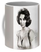 Elizabeth Taylor, Vintage Hollywood Legend By John Springfield Coffee Mug