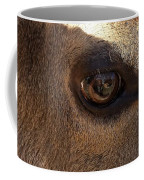 Elk Eye Close Up Coffee Mug