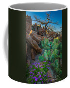 Elk Mountain Flowers Coffee Mug by Inge Johnsson