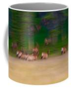 Elk On The Run Coffee Mug