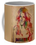 Ellie Goulding Watercolor Portrait Coffee Mug