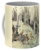 Elves In A Wood Coffee Mug by Arthur Rackham