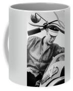 Elvis And His Bike Bw Coffee Mug