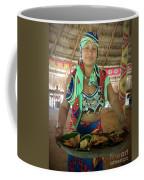 Embera Indian Lady Serving A Meal Coffee Mug