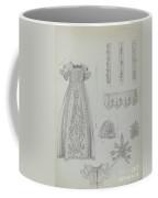 Embroidered Christening Robe & Mull Cap Coffee Mug