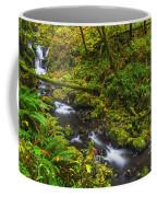 Emerald Falls And Creek In Autumn  Coffee Mug