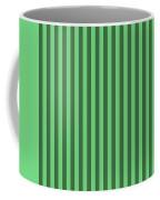 Emerald Green Striped Pattern Design Coffee Mug