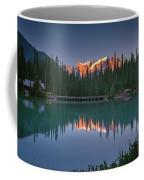 Emerald Lake At Sunrise Hour Coffee Mug