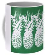 Emerald Pineapples- Art By Linda Woods Coffee Mug by Linda Woods