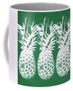 Emerald Pineapples- Art By Linda Woods Coffee Mug