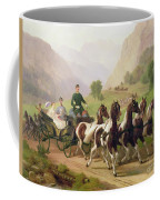 Emperor Franz Joseph I Of Austria Being Driven In His Carriage With His Wife Elizabeth Of Bavaria I Coffee Mug