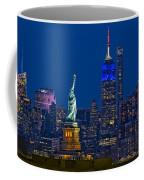 Empire State And Statue Of Liberty II Coffee Mug
