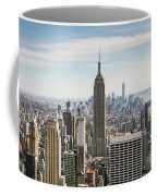 Empire State Building And Manhattan Skyline, New York City, Usa Coffee Mug