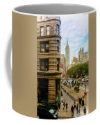 Empire State Building - Crackled View Coffee Mug