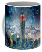 Empire State Building In 4th Of July Coffee Mug by Ylli Haruni