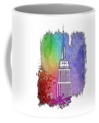 Empire State Of Mind Cool Rainbow 3 Dimensional Coffee Mug