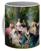 Empress Eugenie Surrounded By Her Ladies In Waiting Coffee Mug by Franz Xaver Winterhalter