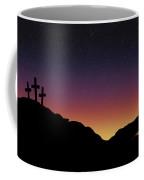 Empty Tomb And Three Crosses Coffee Mug