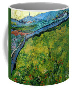 Enclosed Wheat Field With Rising Sun, By Vincent Van Gogh, 1889, Coffee Mug