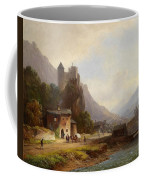 Encounter In A Mountain Valley Coffee Mug