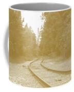 End Of The Rail-sepia Coffee Mug