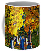 End Of The Road Impasto Coffee Mug
