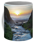 End Of The Road - Creek Runs Into Pacific Ocean At Big Sur Coffee Mug