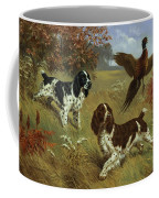 Energetic English Springer Spaniels Coffee Mug by Walter A. Weber