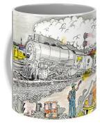 Engine On The Yard Coffee Mug