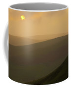 England, Northumberland, Northumberland National Park. Sunset Over The Rolling Cheviot Hills, Viewed Coffee Mug
