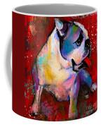 English American Pop Art Bulldog Print Painting Coffee Mug