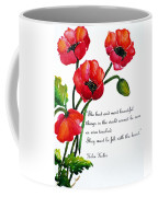 English Poppy   Poem Coffee Mug