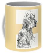 English Setter And Pup Coffee Mug