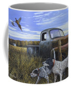 English Setters With Old Truck Coffee Mug