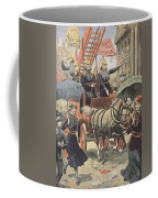 English Suffragettes Dressed As Firemen Coffee Mug