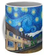 English Village In Van Gogh Style Coffee Mug