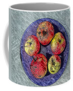 Engraved Wormy Apples Coffee Mug