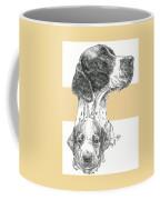 English Pointer And Pup Coffee Mug