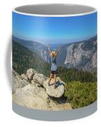 Enjoying At Yosemite Summit Coffee Mug