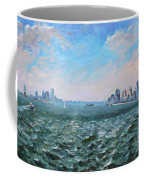 Entering In New York Harbor Coffee Mug