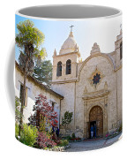Entering The Church Sanctuary At Carmel Mission-california  Coffee Mug