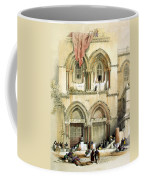 Entrance To Church Of The Holy Sepulchre Card Coffee Mug
