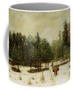 Entrance To The Forest In Winter Coffee Mug by Cherubino Pata