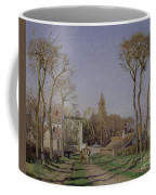 Entrance To The Village Of Voisins Coffee Mug by Camille Pissarro