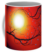 Entwining Branches Of Turquoise Leaves Coffee Mug