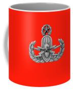 Eod Master Badge Emblem On Red Coffee Mug