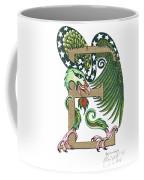 Epsilon Eagle In Green And Gold Coffee Mug